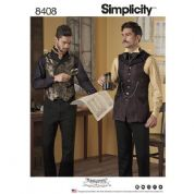 8408 Simplicity Pattern: Mens Shirt and Waistcoat